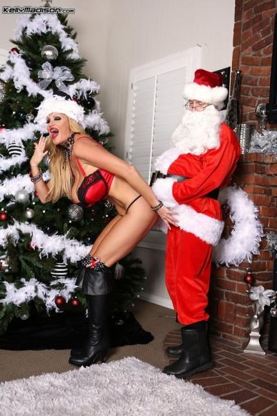 Kelly Madison en mère Noël