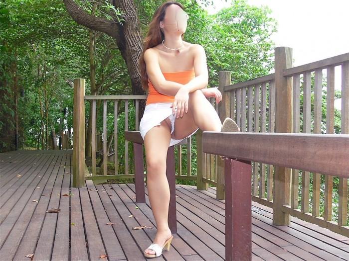Une femme s'exhibe à Singapour